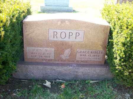 ROPP, JOHN W. - Champaign County, Ohio | JOHN W. ROPP - Ohio Gravestone Photos