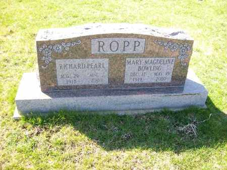 ROPP, RICHARD PEARL - Champaign County, Ohio | RICHARD PEARL ROPP - Ohio Gravestone Photos