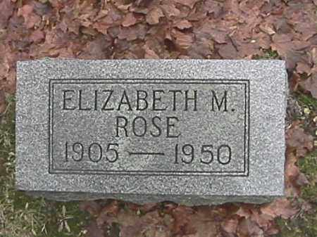 ROSE, ELIZABETH M. - Champaign County, Ohio | ELIZABETH M. ROSE - Ohio Gravestone Photos