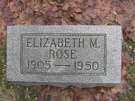 ROSE, ELIZABETH M. - Champaign County, Ohio | ELIZABETH M. ROSE - Ohio Gravestone Photos