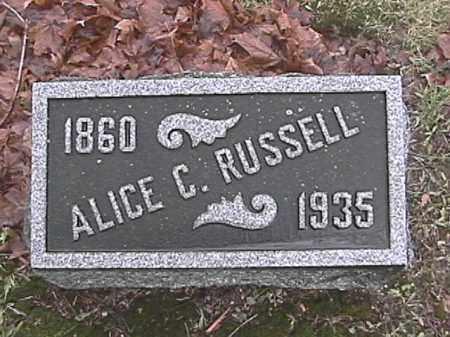 RUSSELL, ALICE C. BODY - Champaign County, Ohio | ALICE C. BODY RUSSELL - Ohio Gravestone Photos
