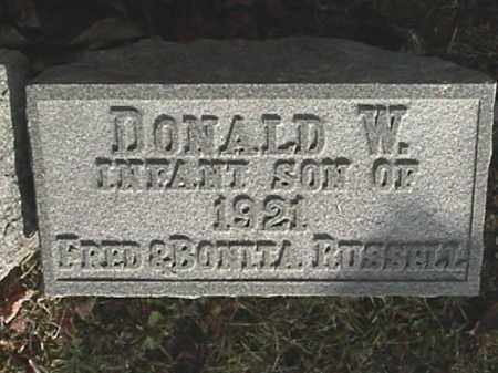 RUSSELL, DONALD W. - Champaign County, Ohio | DONALD W. RUSSELL - Ohio Gravestone Photos