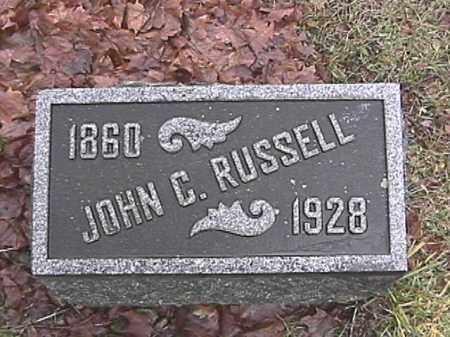 RUSSELL, JOHN CALVIN - Champaign County, Ohio | JOHN CALVIN RUSSELL - Ohio Gravestone Photos