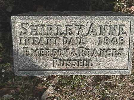 RUSSELL, SHIRLEY ANNE - Champaign County, Ohio | SHIRLEY ANNE RUSSELL - Ohio Gravestone Photos