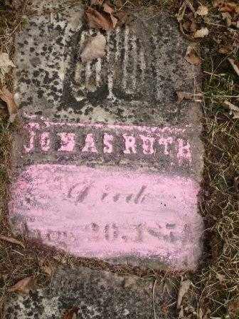 RUTH, JONAS - Champaign County, Ohio | JONAS RUTH - Ohio Gravestone Photos