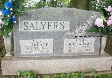 ADAMS SALYERS, OCIE - Champaign County, Ohio   OCIE ADAMS SALYERS - Ohio Gravestone Photos