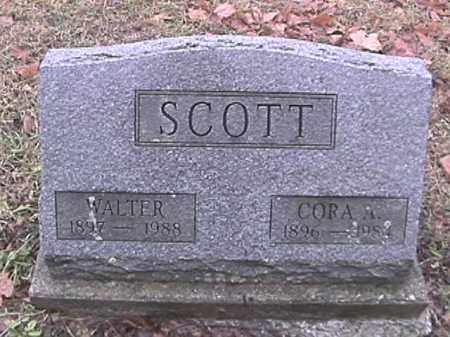 SCOTT, CORA  A. - Champaign County, Ohio   CORA  A. SCOTT - Ohio Gravestone Photos