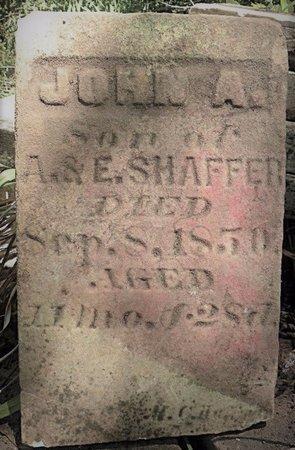 SHAFFER, JOHN A - Champaign County, Ohio | JOHN A SHAFFER - Ohio Gravestone Photos