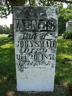 SMAIL, AGNES - Champaign County, Ohio | AGNES SMAIL - Ohio Gravestone Photos