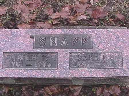 SNAPP, JOHN T. - Champaign County, Ohio | JOHN T. SNAPP - Ohio Gravestone Photos