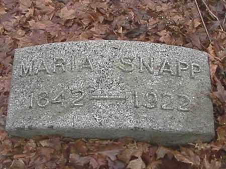 SNAPP, MARIA - Champaign County, Ohio | MARIA SNAPP - Ohio Gravestone Photos