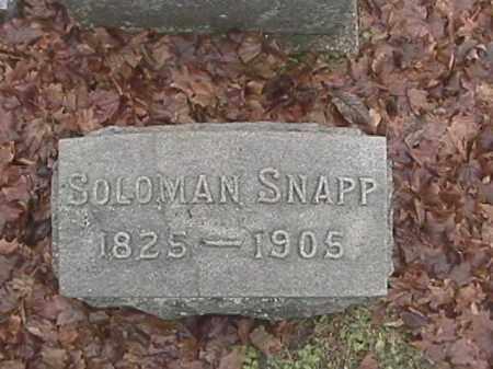 SNAPP, SOLOMAN - Champaign County, Ohio | SOLOMAN SNAPP - Ohio Gravestone Photos