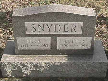 SNYDER, ELSIE - Champaign County, Ohio | ELSIE SNYDER - Ohio Gravestone Photos
