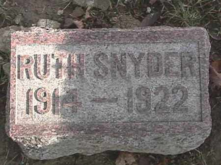 SNYDER, RUTH - Champaign County, Ohio | RUTH SNYDER - Ohio Gravestone Photos