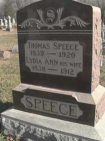 SPEECE, THOMAS MCINTIRE - Champaign County, Ohio | THOMAS MCINTIRE SPEECE - Ohio Gravestone Photos