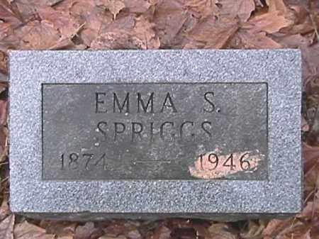 SPRIGGS, EMMA S. - Champaign County, Ohio | EMMA S. SPRIGGS - Ohio Gravestone Photos