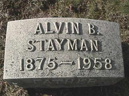 STAYMAN, ALVIN BERTRAM - Champaign County, Ohio | ALVIN BERTRAM STAYMAN - Ohio Gravestone Photos