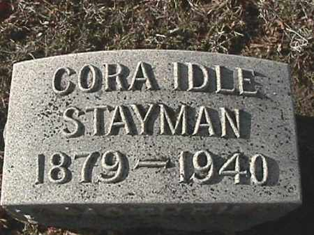 IDLE STAYMAN, CORA ELIZABETH - Champaign County, Ohio | CORA ELIZABETH IDLE STAYMAN - Ohio Gravestone Photos