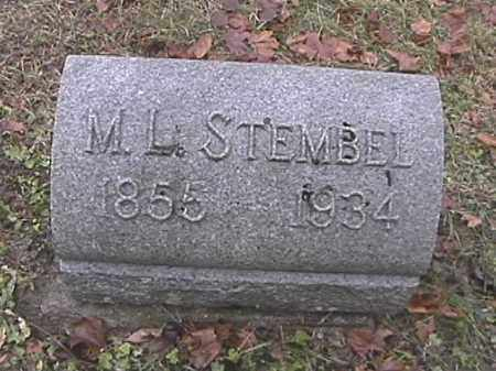 STEMBEL, MARCELLUS LAFAYEETE - Champaign County, Ohio | MARCELLUS LAFAYEETE STEMBEL - Ohio Gravestone Photos