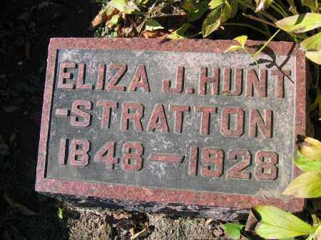 STRATTON, ELIZA J. HUNT - Champaign County, Ohio | ELIZA J. HUNT STRATTON - Ohio Gravestone Photos
