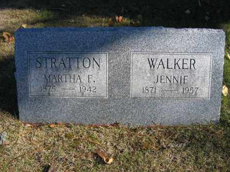 WALKER, JENNIE - Champaign County, Ohio | JENNIE WALKER - Ohio Gravestone Photos
