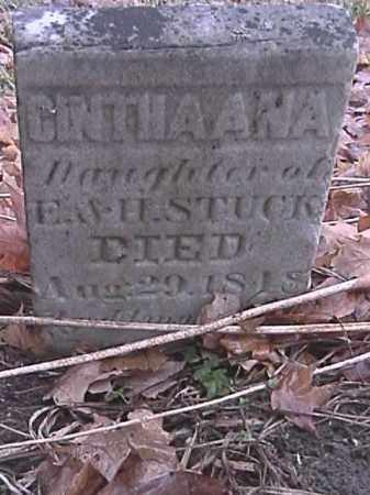 STUCK, CINTHAANA - Champaign County, Ohio | CINTHAANA STUCK - Ohio Gravestone Photos