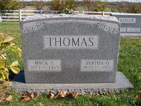 THOMAS, BERTHA O - Champaign County, Ohio | BERTHA O THOMAS - Ohio Gravestone Photos