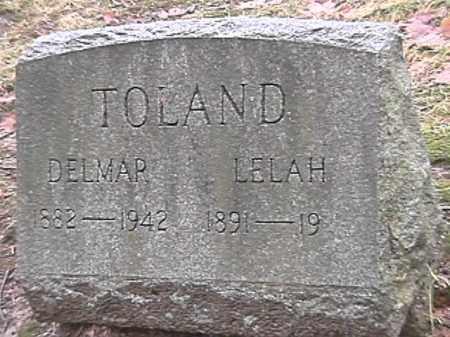 TOLAND, DELMAR - Champaign County, Ohio | DELMAR TOLAND - Ohio Gravestone Photos