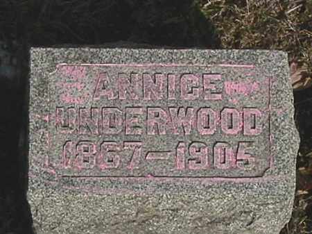 UNDERWOOD, ANNICE - Champaign County, Ohio | ANNICE UNDERWOOD - Ohio Gravestone Photos