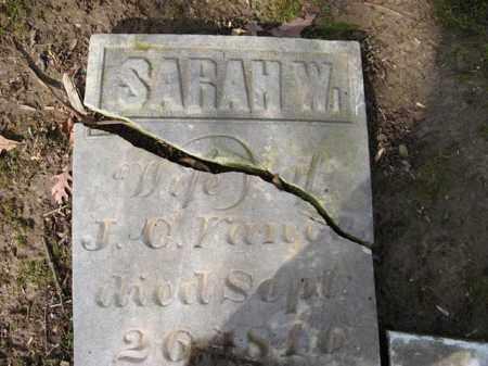 VANCE, SARAH - Champaign County, Ohio | SARAH VANCE - Ohio Gravestone Photos