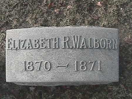WALBORN, ELIZABETH R. - Champaign County, Ohio | ELIZABETH R. WALBORN - Ohio Gravestone Photos