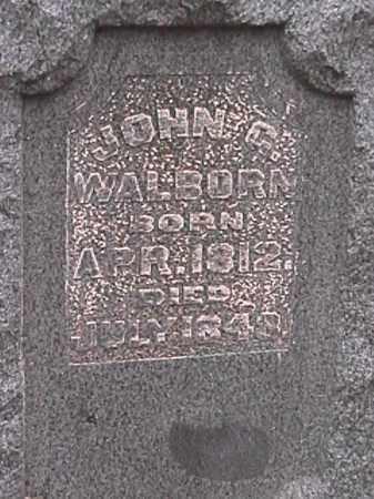 WALBORN, JOHN G. - Champaign County, Ohio | JOHN G. WALBORN - Ohio Gravestone Photos