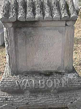 BRIGHTON WALBORN, MARY JANE - Champaign County, Ohio | MARY JANE BRIGHTON WALBORN - Ohio Gravestone Photos