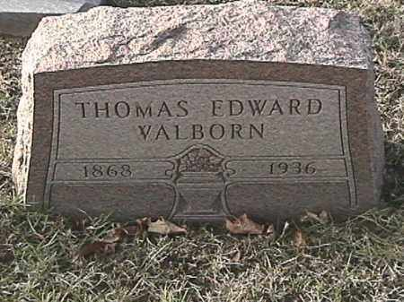 WALBORN, THOMAS EDWARD - Champaign County, Ohio | THOMAS EDWARD WALBORN - Ohio Gravestone Photos