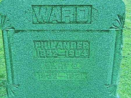 WARD, MARY E. - Champaign County, Ohio | MARY E. WARD - Ohio Gravestone Photos
