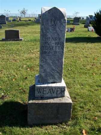 WEAVER, ROSETTA - Champaign County, Ohio | ROSETTA WEAVER - Ohio Gravestone Photos