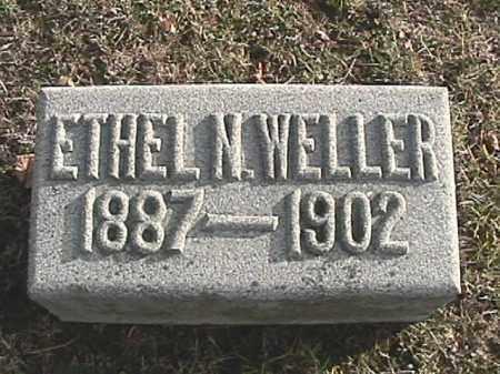 WELLER, ETHEL N. - Champaign County, Ohio | ETHEL N. WELLER - Ohio Gravestone Photos