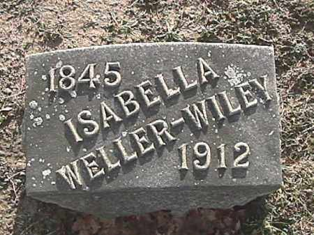 WELLER WILEY, ISABELLA - Champaign County, Ohio | ISABELLA WELLER WILEY - Ohio Gravestone Photos