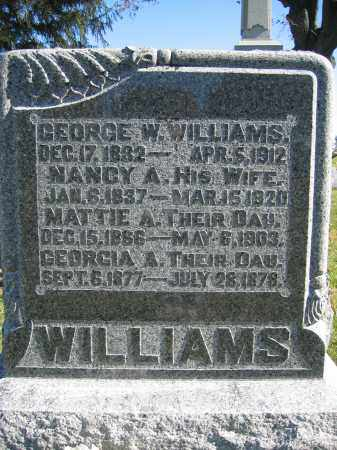 WILLIAMS, MATTIE A. - Champaign County, Ohio | MATTIE A. WILLIAMS - Ohio Gravestone Photos