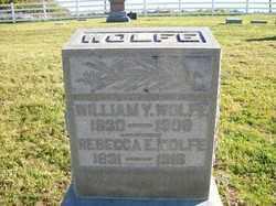 WOLFE, REBECCA E - Champaign County, Ohio | REBECCA E WOLFE - Ohio Gravestone Photos