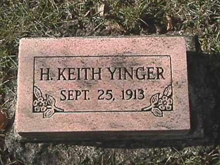 YINGER, H. KEITH - Champaign County, Ohio | H. KEITH YINGER - Ohio Gravestone Photos