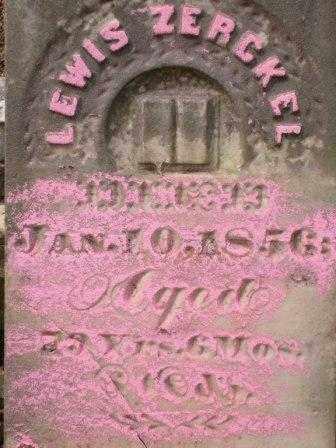ZERCKEL, LEWIS - Champaign County, Ohio | LEWIS ZERCKEL - Ohio Gravestone Photos