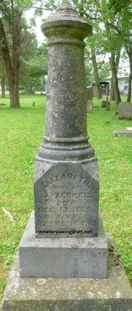 ZERKEL, ELIZABETH - Champaign County, Ohio | ELIZABETH ZERKEL - Ohio Gravestone Photos