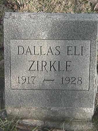 ZIRKLE, DALLAS ELI - Champaign County, Ohio | DALLAS ELI ZIRKLE - Ohio Gravestone Photos