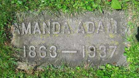 ADAMS, AMANDA - Clark County, Ohio | AMANDA ADAMS - Ohio Gravestone Photos