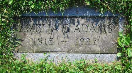 ADAMS, AMELIA G. - Clark County, Ohio | AMELIA G. ADAMS - Ohio Gravestone Photos