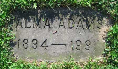 ADAMS, ALMA - Clark County, Ohio | ALMA ADAMS - Ohio Gravestone Photos