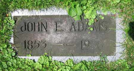 ADAMS, JOHN E. - Clark County, Ohio | JOHN E. ADAMS - Ohio Gravestone Photos