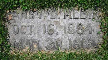 ALBIN, PANSY D. - Clark County, Ohio | PANSY D. ALBIN - Ohio Gravestone Photos