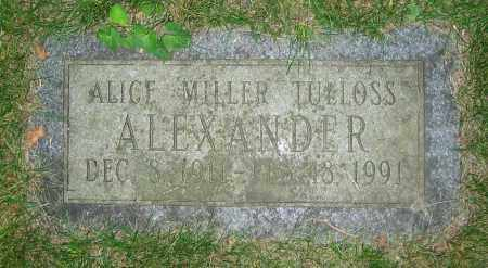 MILLER TULLOSS ALEXANDER, ALICE - Clark County, Ohio | ALICE MILLER TULLOSS ALEXANDER - Ohio Gravestone Photos
